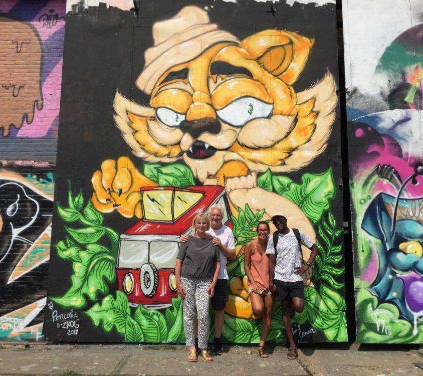 Street art and graffiti bike tour